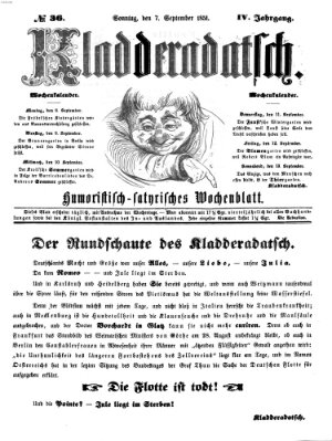 Kladderadatsch Sonntag 7. September 1851