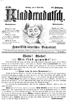 Kladderadatsch Sonntag 17. April 1853