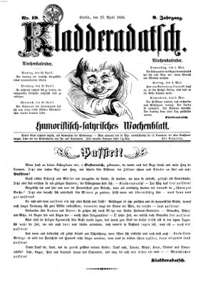 Kladderadatsch Sonntag 27. April 1856