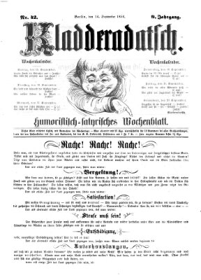Kladderadatsch Sonntag 14. September 1856
