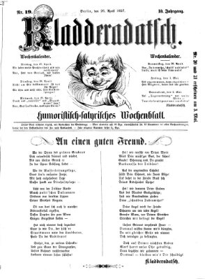 Kladderadatsch Sonntag 26. April 1857