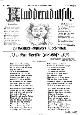 Kladderadatsch Sonntag 2. September 1860