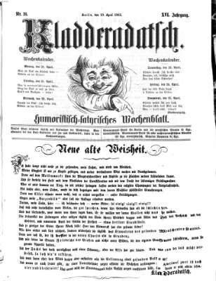 Kladderadatsch Sonntag 19. April 1863
