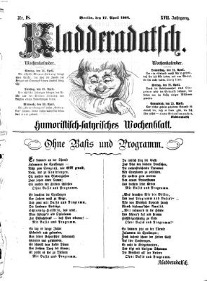 Kladderadatsch Sonntag 17. April 1864