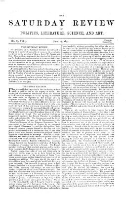 Saturday review Samstag 13. Juni 1857