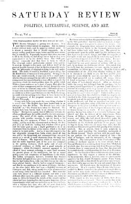 Saturday review Samstag 5. September 1857