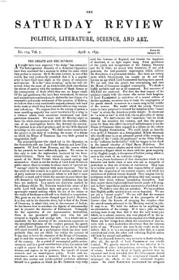 Saturday review Samstag 2. April 1859