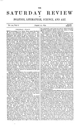 Saturday review Samstag 27. August 1859