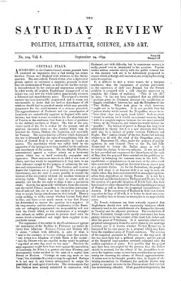 Saturday review Samstag 24. September 1859