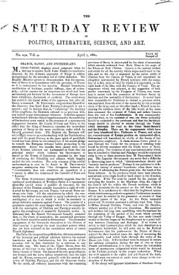Saturday review Samstag 7. April 1860