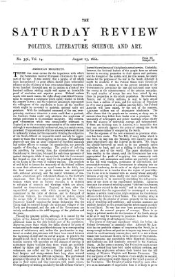 Saturday review Samstag 23. August 1862