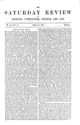 Saturday review Samstag 29. August 1863