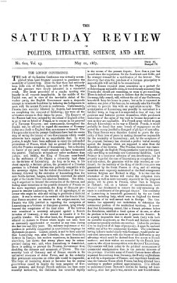 Saturday review Samstag 11. Mai 1867