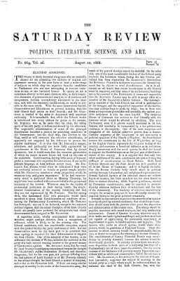 Saturday review Samstag 22. August 1868