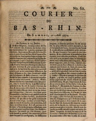 Courier du Bas-Rhin Samstag 1. August 1772
