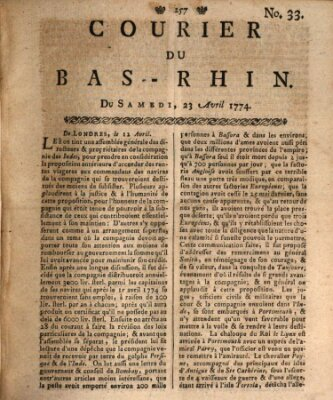 Courier du Bas-Rhin Samstag 23. April 1774