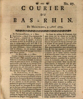 Courier du Bas-Rhin Mittwoch 5. April 1775