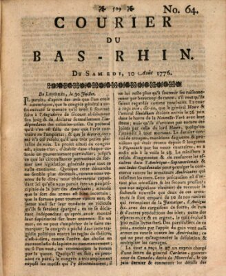 Courier du Bas-Rhin Samstag 10. August 1776