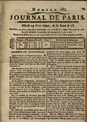 Journal de Paris 〈Paris〉 Dienstag 29. Juni 1790