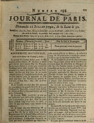 Journal de Paris 〈Paris〉 Sonntag 11. Juli 1790