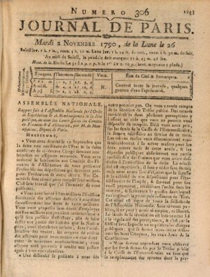 Journal de Paris 〈Paris〉 Dienstag 2. November 1790