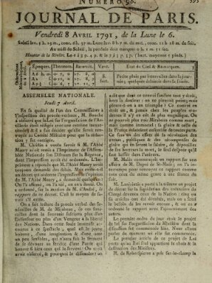 Journal de Paris 〈Paris〉 Freitag 8. April 1791