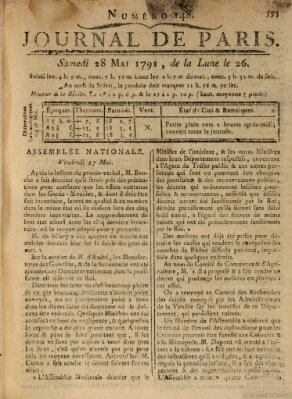 Journal de Paris 〈Paris〉 Samstag 28. Mai 1791