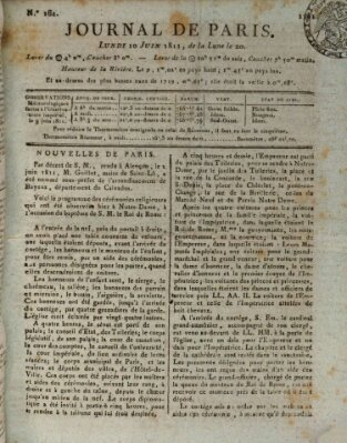 Journal de Paris 〈Paris〉 Montag 10. Juni 1811