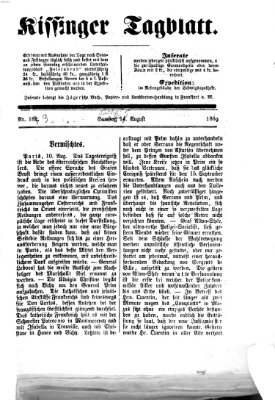 Kissinger Tagblatt Sonntag 15. August 1869