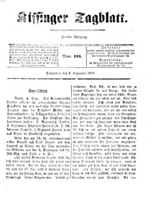 Kissinger Tagblatt Donnerstag 8. September 1870