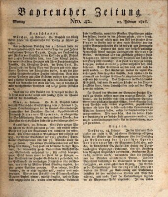Bayreuther Zeitung Montag 27. Februar 1826