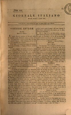 Giornale italiano Donnerstag 14. April 1808