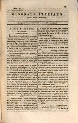 Giornale italiano Samstag 1. April 1809
