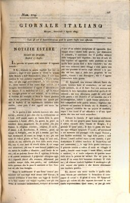 Giornale italiano Mittwoch 2. August 1809