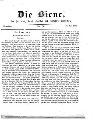 Die Biene (Würzburger Journal) Sonntag 27. April 1834