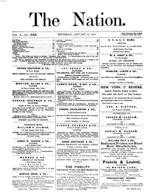The nation Donnerstag 27. Januar 1870