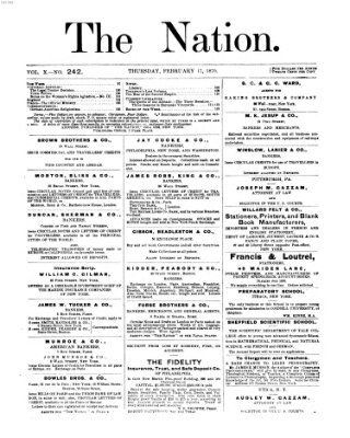 The nation Donnerstag 17. Februar 1870
