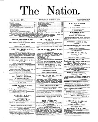 The nation Donnerstag 3. März 1870