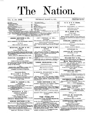 The nation Donnerstag 10. März 1870