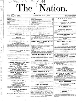 The nation Donnerstag 7. Juli 1870