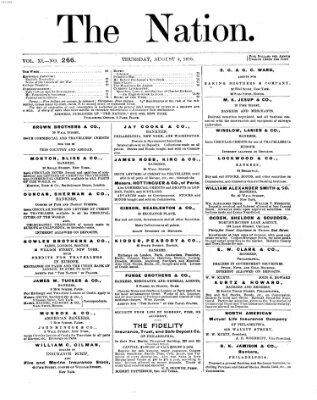 The nation Donnerstag 4. August 1870