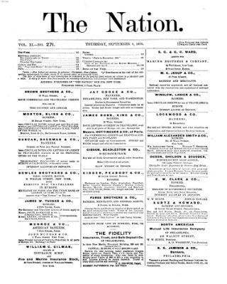 The nation Donnerstag 8. September 1870