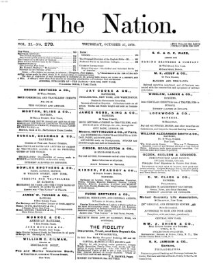 The nation Donnerstag 27. Oktober 1870