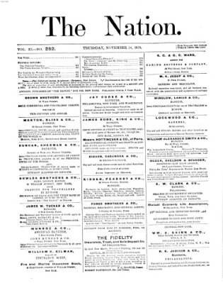 The nation Donnerstag 24. November 1870