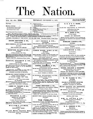 The nation Donnerstag 22. Dezember 1870