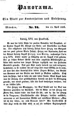 Panorama Mittwoch 13. April 1836