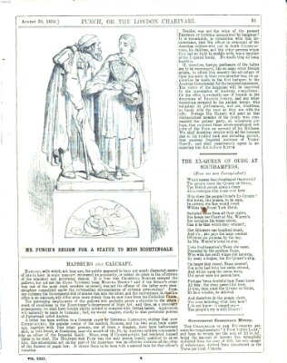 Punch Samstag 30. August 1856