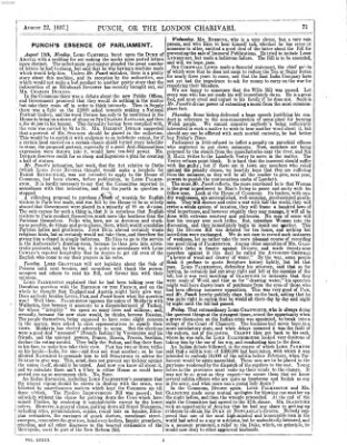 Punch Samstag 22. August 1857