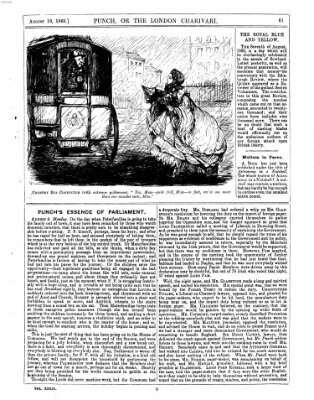 Punch Samstag 18. August 1860