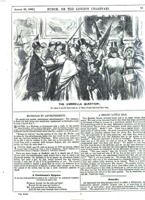 Punch Samstag 23. August 1862